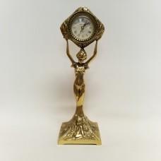 """Žalvarinis stalo laikrodis """"Mergina"""""""