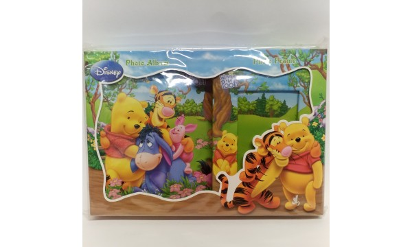 "Komplektas - albumas ir foto rėmelis ""Winnie Pooh"""