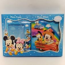 """Komplektas - albumas ir foto rėmelis """"Mickey Mouse"""""""