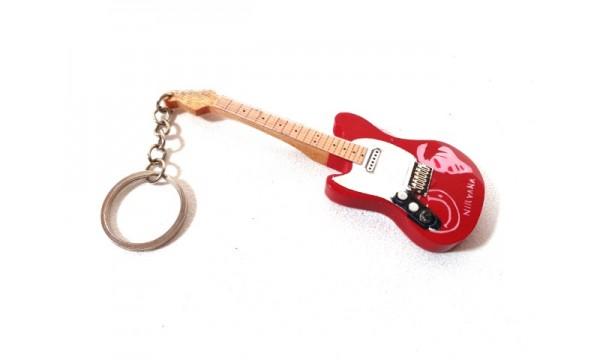 Raktų pakabukas mini gitara - Nirvana, Kurt Cobain