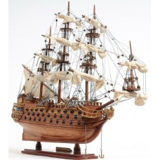 """Istorinio laivo - Ispanijos galeono """"San Felipe"""" modelis"""