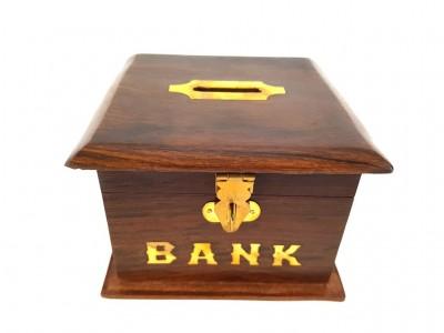 """Medinė taupyklė """"Bankas"""""""