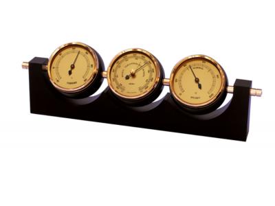 """Meteorologinė orų stotelė """"Fischer"""" - higrometras, barometras, termometras"""