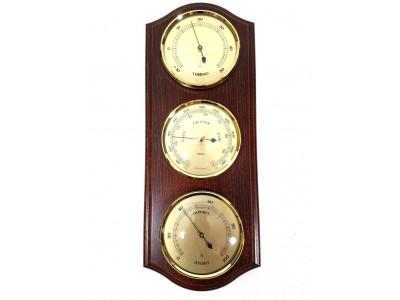"""Meteorologinė orų stotelė """"Fischer"""" - barometras, higrometras, termometras"""