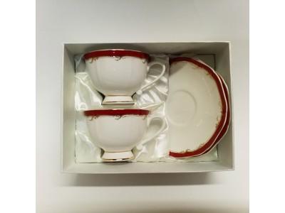 Puodelių su lėkštutėmis komplektas dviems - English Collection