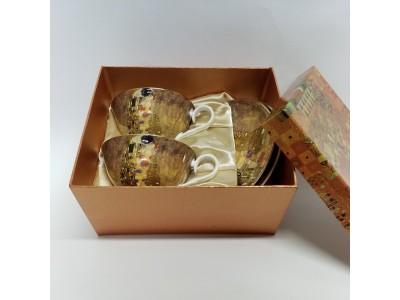 Puodelių su lėkštutėmis komplektas arbatai dviems - Klimtas