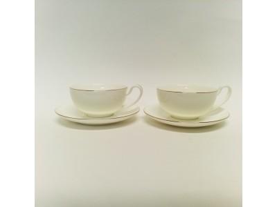Puodelių su lėkštutėmis komplektas arbatai dviems - Marco Polo