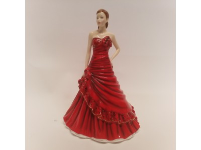 """Statulėlė """"Dama raudona suknele"""""""