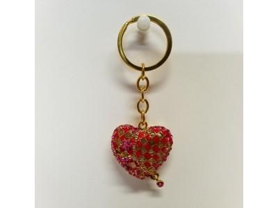 Raktų pakabukas - širdelė
