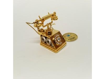 Telefonas - statulėlė su Swarovski kristalais