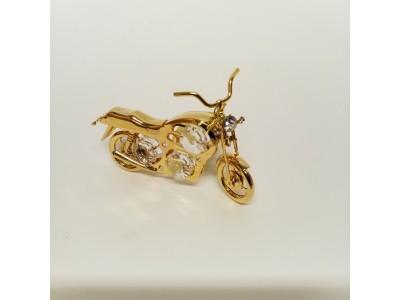 Motociklas - statulėlė su Swarovski kristalais