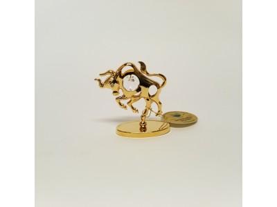 Jautis - zodiako ženklas su Swarovski kristalu