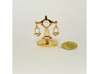 Svastyklės - zodiako ženklas su Swarovski kristalu