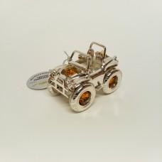 Automobilis džipas - statulėlė su Swarovski kristalais