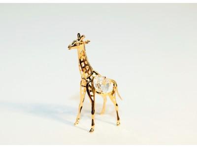 Žirafa - statulėlė su Swarovski kristalais