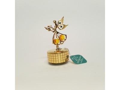 Angelas - grojanti statulėlė su Swarovski kristalais