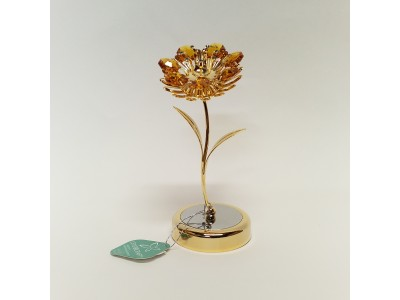 Gėlė - statulėlė su Swarovski kristalais