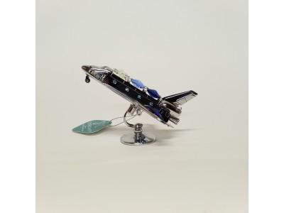 Lėktuvas - statulėlė su Swarovski kristalais