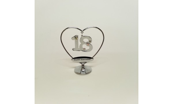 18 gimtadienis - statulėlė su Swarovski kristalais