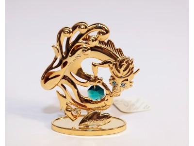 Drakonas - statulėlė su Swarovski kristalais