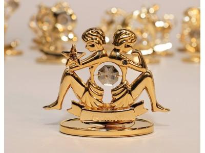 Dvyniai - zodiako ženklas su Swarovski kristalu
