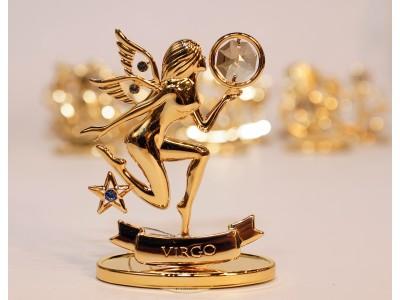 Mergelė - zodiako ženklas su Swarovski kristalu