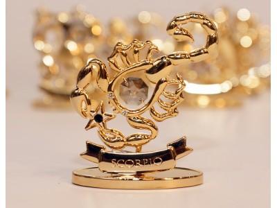 Skorpionas - zodiako ženklas su Swarovski kristalu
