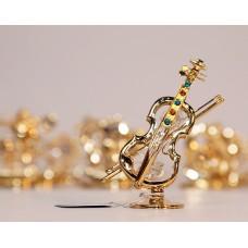 Smuikas - statulėlė su Swarovski kristalais