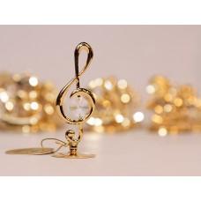 Smuiko raktas - statulėlė su Swarovski kristalais