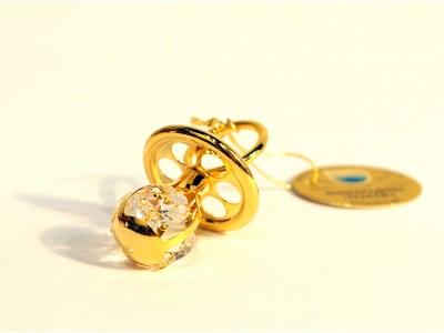 Suvenyras čiulptukas- su Swarovski kristalais