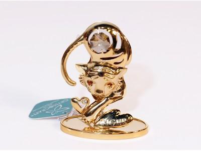 Tigras - statulėlė su Swarovski kristalais