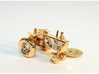 Traktorius - statulėlė su Swarovski kristalais