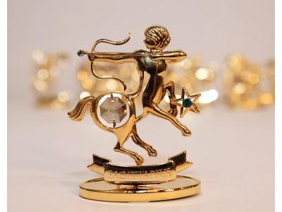 Šaulys - zodiako ženklas su Swarovski kristalu