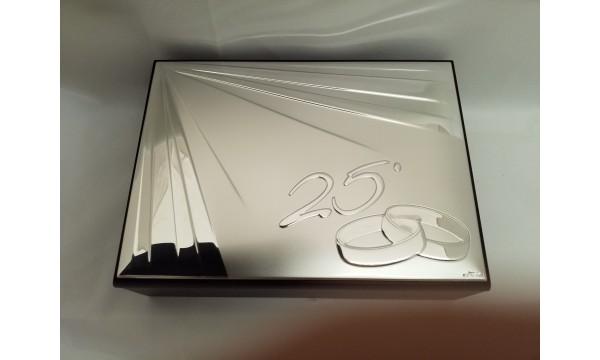 Dekoratyvinė dėžutė sidabrinių vestuvių sukaktuvėms
