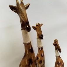 Medinės žirafos - 3 vnt.
