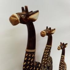 Medinės žirafos 3 vnt.