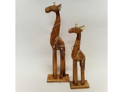 Medinės žirafos - 2 vnt.