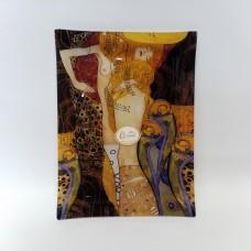 Dekoratyvinė lėkštė iš stiklo - G. Klimt