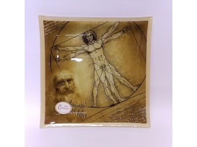 Dekoratyvinė lėkštė iš stiklo - Leonardo Da Vinci