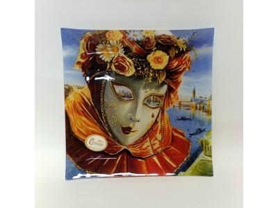 Dekoratyvinė lėkštė iš stiklo