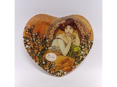 Dekoratyvinė lėkštė iš stiklo - A. Mucha