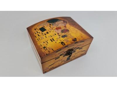 """Dekoratyvinė skrynelė - G.Klimtas """"bučnys"""""""