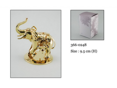 Dramblys - statulėlė su Swarovski kristalais