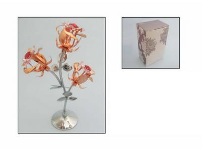 Rožių puokštė - suvenyras su Swarovski kristalais