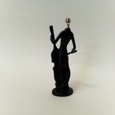 Statulėlė - muzikantas su kontrabosu