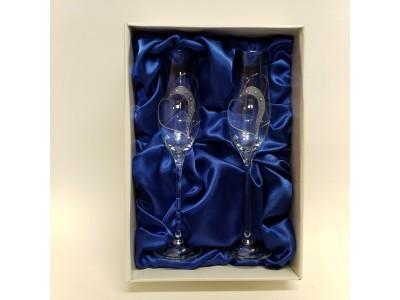 Taurių rinkinys šampanui su Swarovski elementais 2 vnt.